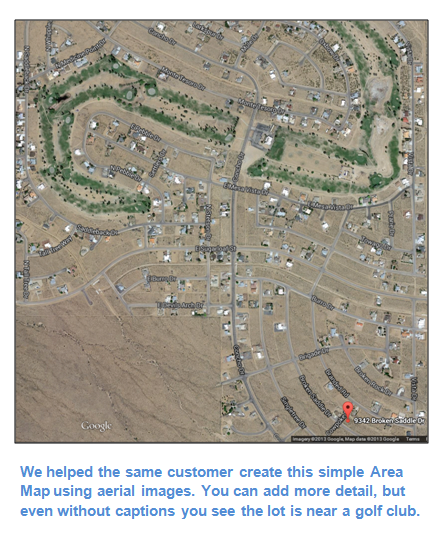 Use Area Maps to Show How Close a Property is to Nearby Amenities
